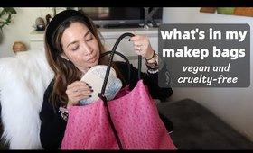 WHAT'S IN MY MAKEUP BAGS | VEGAN & CRUELTY-FREE | thefabzilla
