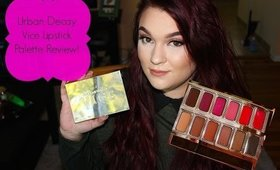 Urban Decay Vice Lipstick Palette Review!
