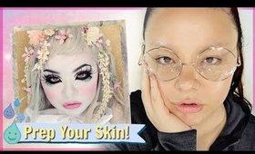 How I Prep My Skin for HEAVY Makeup (kinda weird)