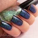 Starry night sky manicure :)