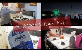 Days Of Cleaning | Holiday Clean With Me | Gift Wrapping  | VLOGMAS Days 11 - 12