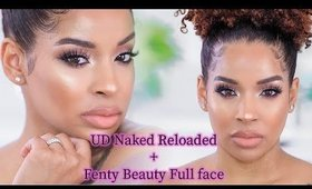 UD Naked Reloaded, Fenty Beauty Concealer + Setting Powder First Impression