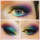 colorful spring eye