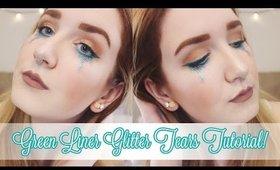 Green Liner Glitter Tears Tutorial!