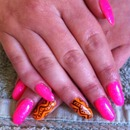Pink and Orange Aztec