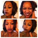 NYX lipgloss with NYX eyeliner