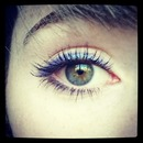 Purple eyeliner - simple