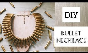DIY : Bullet casing bib necklace