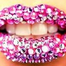 Bejeweled lips