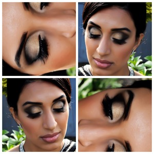 Bollywood style makeup - smoky eye