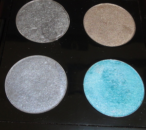 Blueish Silver Makeup of the Day  Eye Shadows From Left to Right and Top to Bottom- Urban Decay- Gunmetal, MAC- Era MAC- Electra, Urban Decay- Shattered