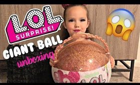 HUGE LOL SURPRISE GIANT BALL UNBOXING WITH MARIN | Briddy Nicole