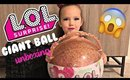 HUGE LOL SURPRISE GIANT BALL UNBOXING WITH MARIN   Briddy Nicole