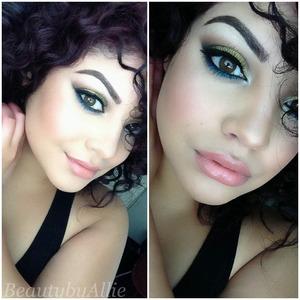 Instagram: Beautybyallie  Used makeup geek pigment in liquid gold and wet n wild vanity and pride palette to create this look.
