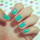 blue /green nails