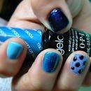 blue velvet manicure / OPI  GELCOLOR