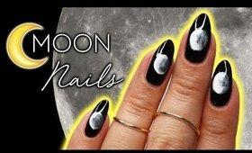 Easy Moon Nail Art 🌙