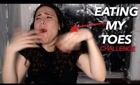 EATING MY TOES CHALLENGE | AYYDUBS