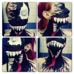 My Venom face paint makeup