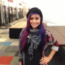 Purple and blue hair <3
