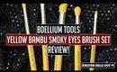 Bdellium Tools: Yellow Bambu Smoky Eyes 5pc. Brush Set Review!