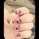 floral nail design