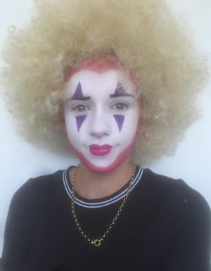 This makeup I did in the Diploma Of Screen And Media. My clown is inspired by The Queen Of Hearts and Drag Queen Erika Klash.