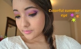 Colorful eye using Electric palette