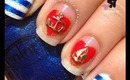 Nautical Sailor Charm Nails by The Crafty Ninja