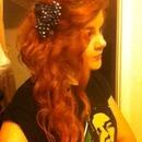 Side Swept Ariel Hair