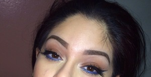 Navy and brown eye look 😌