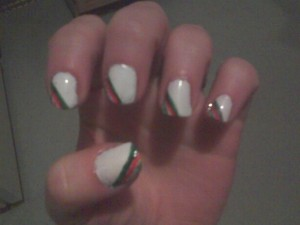 Christmas nails :) For more details and color names check out my Tumblr: bessielamb.tumblr.com