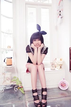 Taken in China - Be Yourself  Makeup = Brown eyeliner, false eyelash, eyelid tape, concealer, lip gloss (All Chinese brands)