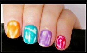 Colourful Summer Tie Dye Nails