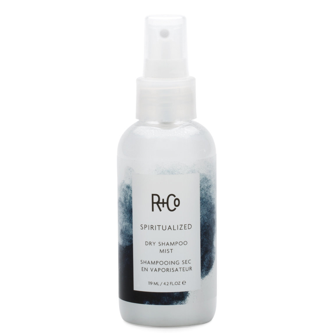 R+Co Spiritualized Dry Shampoo Mist 4.2 fl oz product smear.