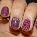 Pink & Gray Nails