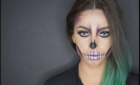 EASY PURPLE GLAM SKULL | BEAUTY BY RAWDAA