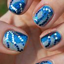 Glitter-on-glitter nails for NYE