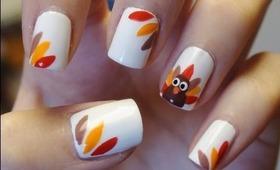 Easy Thanksgiving Turkey Nails!!!