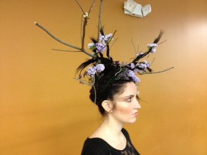 """My entry for the """"Elements of Style"""" competition at my cosmetology school (Aveda Institute Jacksonville)"""