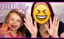 Violet Gives Me a Makeover | Toddler Does My Makeup