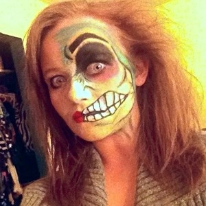 A Halloween look I created for my sister. Two faced.