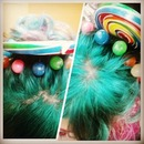 Candy Land hair at school.