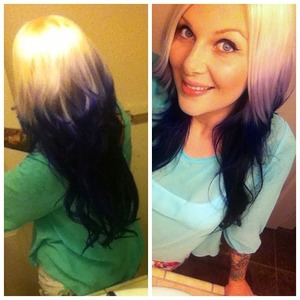 BLONDE TO LAVENDER TO PURPLE OMBRE