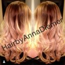 Blonde and brown ombré