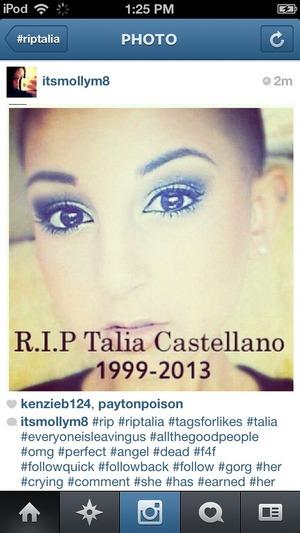 RIP beatiful u will be missed 💋