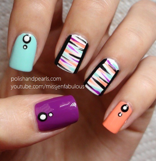 Nail Art For Beginners Without Tools: Easy Nail Art For Beginners