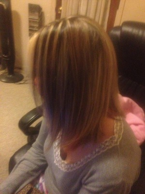 Highlights and Haircut By Christy Farabaugh