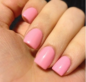 Pink nails give you a fresh everyday look that's great for everyone 💅 the color is tickle me pink (I think) by O.P.I.