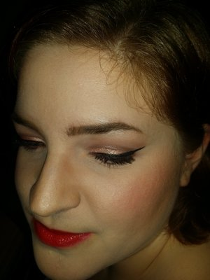 Makeup of the day from my birthday on 1/11. I didn't get great pictures that night, unfortunately.